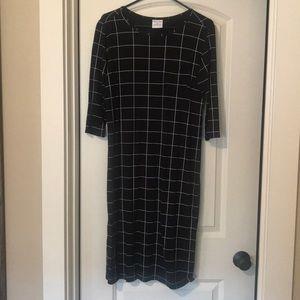 NWOT plain Jane black check dress